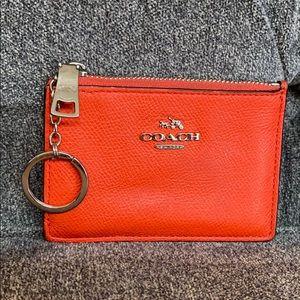 Coach mini skinny card ID case holder key cles